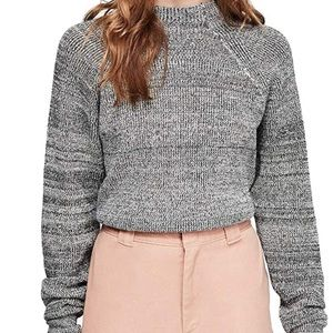 Free People Too Good Sweater Heather Gray/Black XS